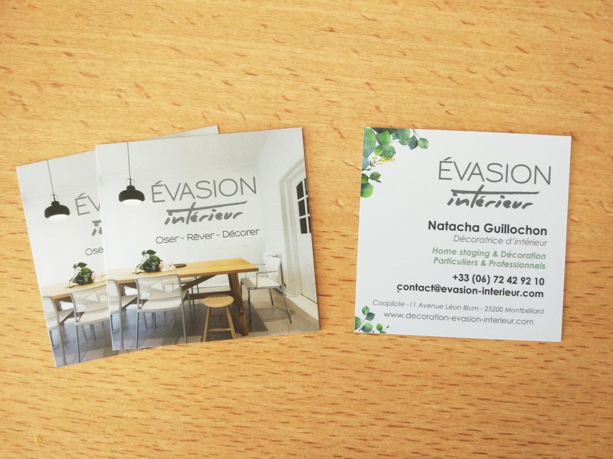 Cration De Carte Visite Pour Une Agence Dcoration Dintrieur